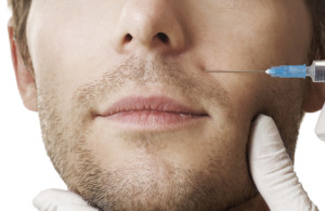 botox injection on male patient